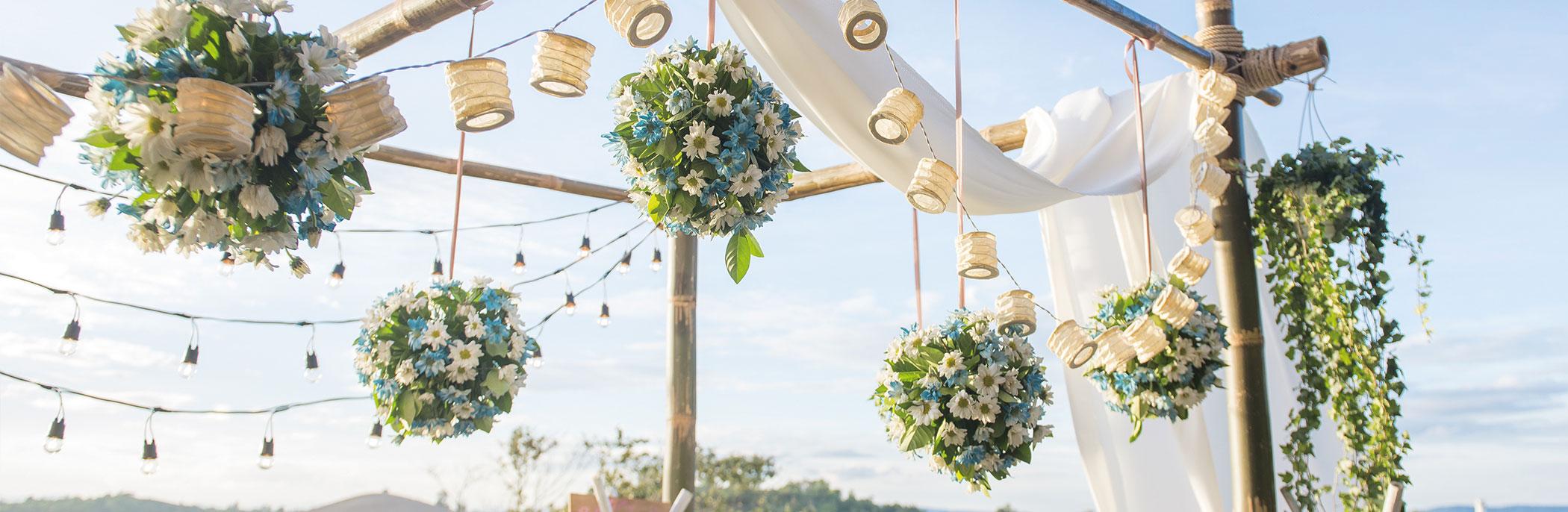 Hochzeitsdekoration Blumenkugel