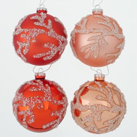 Weihnachtskugel Coral